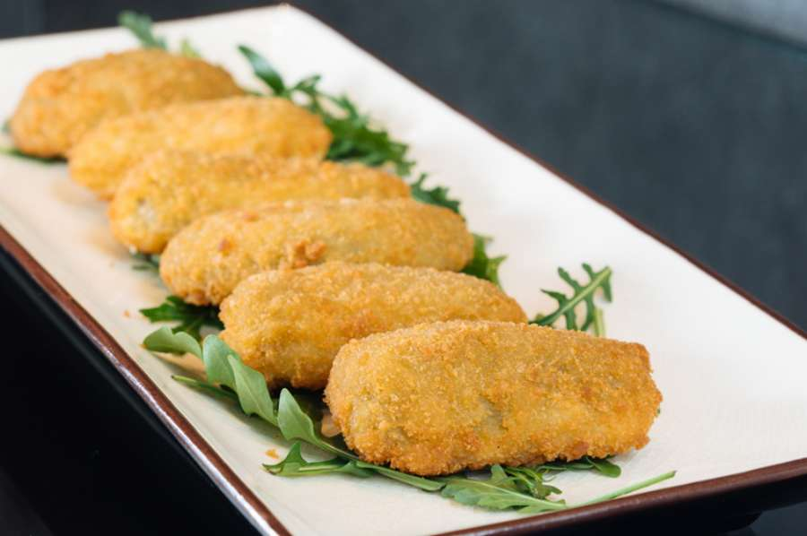 Breaded cheese and mild jalapeno peppers