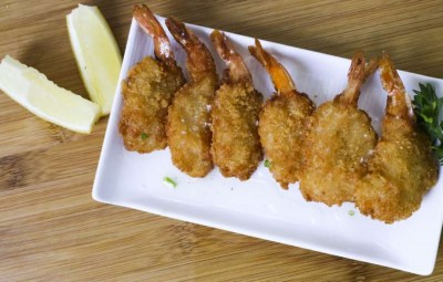 Panko butterfly shrimps - Elia Caterers