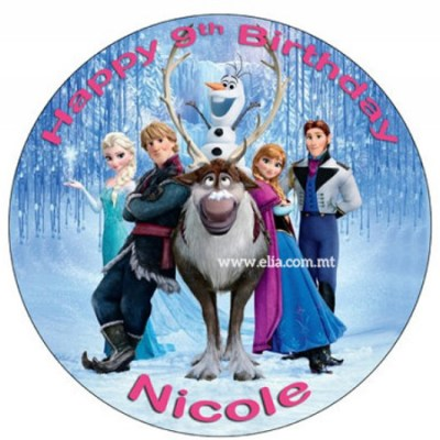 Frozen All characters print - Elia Caterers