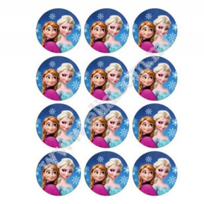 Frozen Anna & Elsa cupcake toppers - Elia Caterers