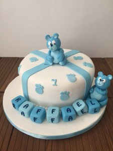 Blue bear cake - Elia Caterers