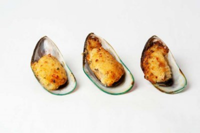 New Zealand mussels au gratin - Elia Caterers