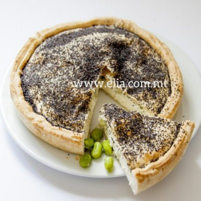 Ricotta-&-broad-bean-pie
